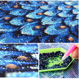 Kit de peinture au diamant bricolage 5D pour adultes, artisanat d'art de forage complet