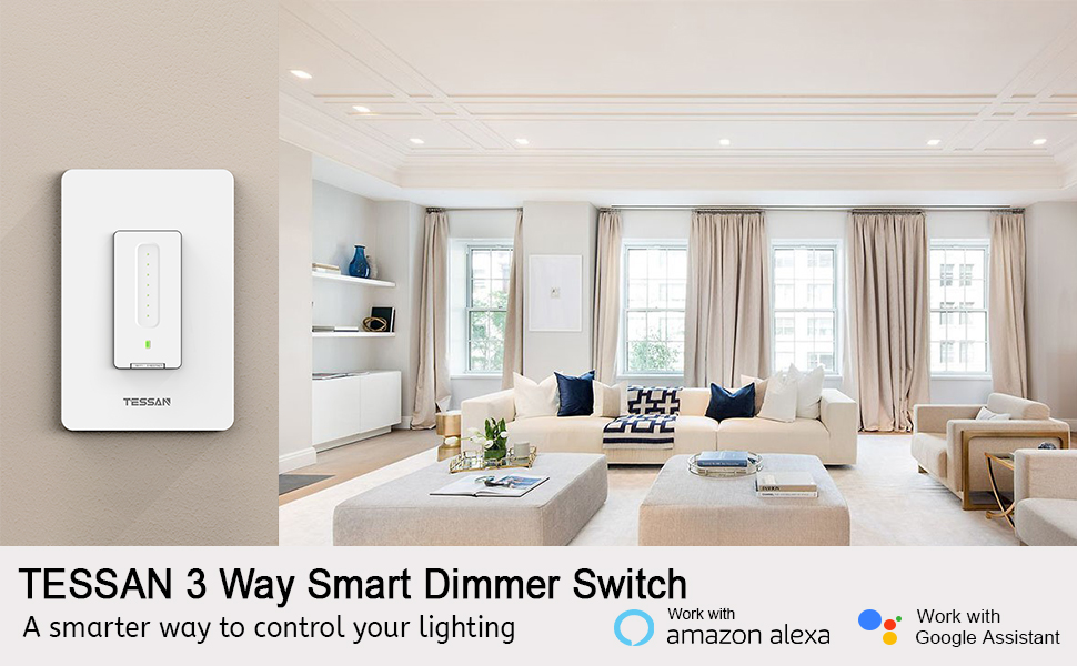 3 way smart wifi dimmer led switch