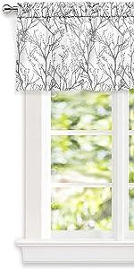 gray tree branch valance 5218