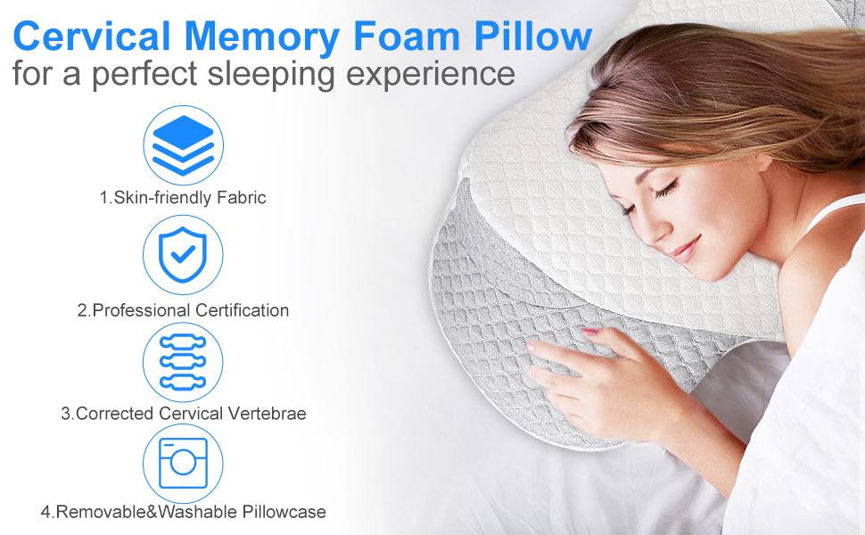 sutera sleep pillow,cervical neck pillow,memory foam neck pillow,Contoured Support Pillow,Christmas