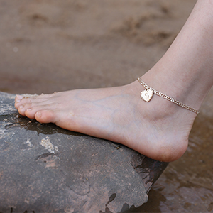 anklets for women with initial