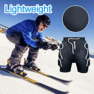 protective padded shorts for men