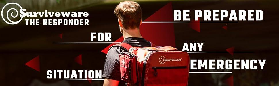 Emergency Backpack, bugout bag survival kit, survival kits for disaster preparedness family