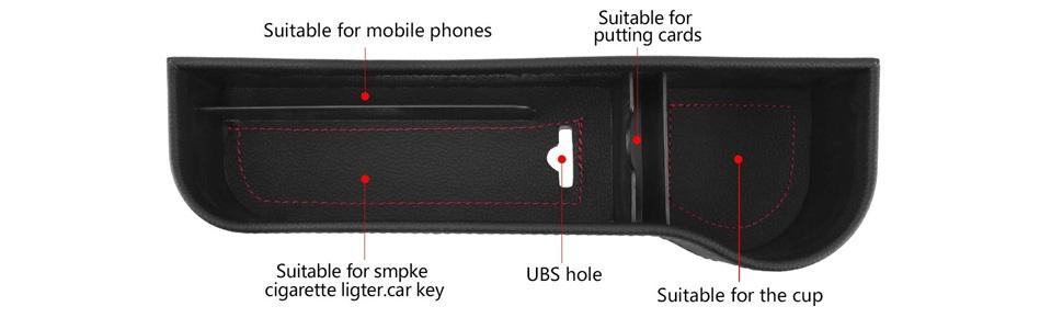car side organizer gap filler caddy