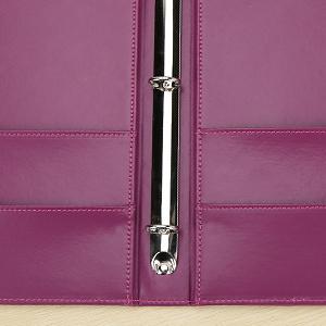 KINGFOM A4 Faux Leather Padfolio 3 Ring Binder Business File Folder Document Holder