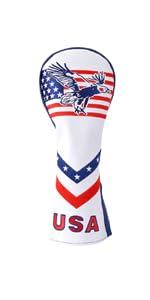 usa eagle golf club hybrid head cover