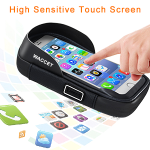 Phone holder with sensitive touch screen