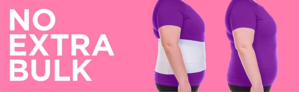 the womens lower back pain brace is low-profile under clothes