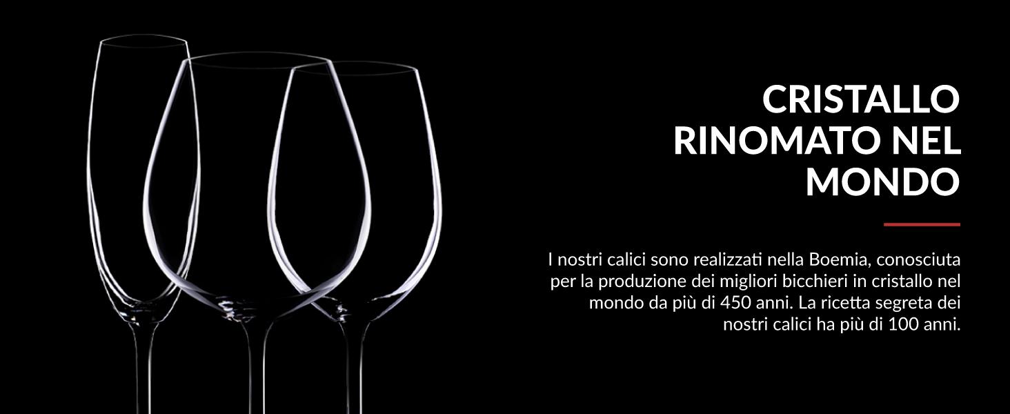 set calici da vino in cristallo coppa ballon flute vetro alta qualità