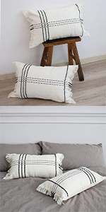 pillow cover 12x20 boho bolster home bed long 12x18 rectangular pillowcase cream 20x12 accent case