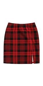Verdusa Womens Split Hem Bodycon Short Mini Skirt