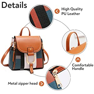 details and features of fashion bags
