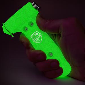 Glow-in-the-dark car hammer in hand