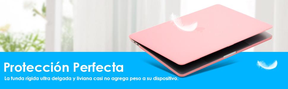 lention Estuche rígido con Tapones de Puerto para MacBook Pro (15 Pulgadas): Amazon.es: Electrónica