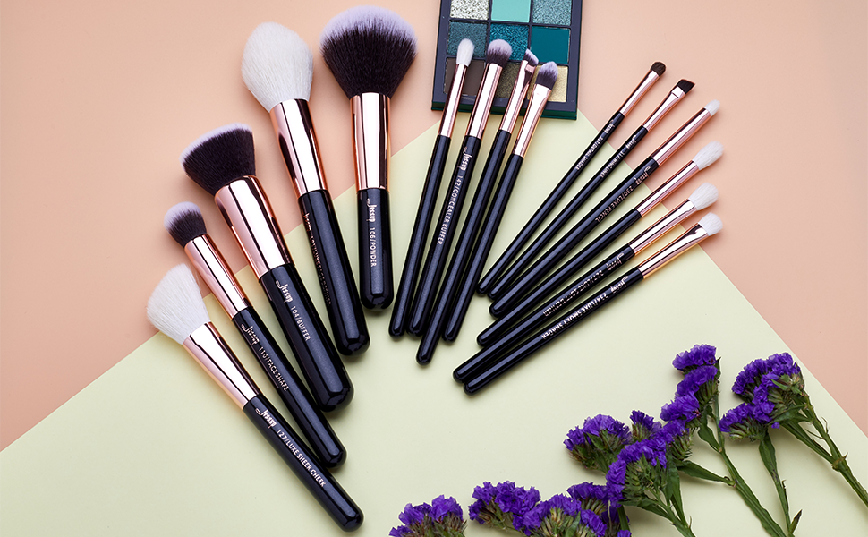 Jessup 15pcs makeup brushes