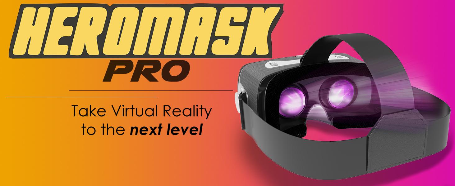 Heromask Pro vr take next level glow headset best buy