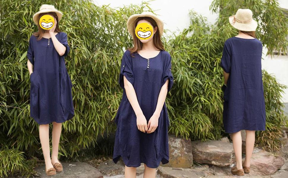 summer cotton dress for women