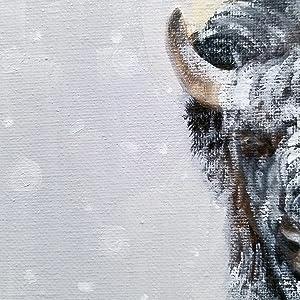 Schneeflocken in der Bison Malerei