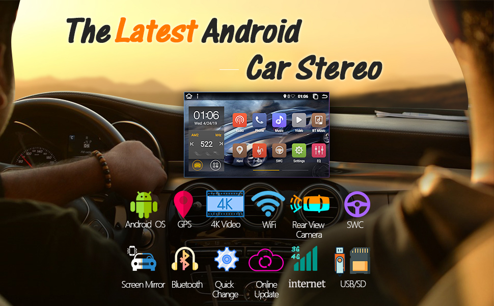 2din car stereo, car touch screen radio, 2 din car audio