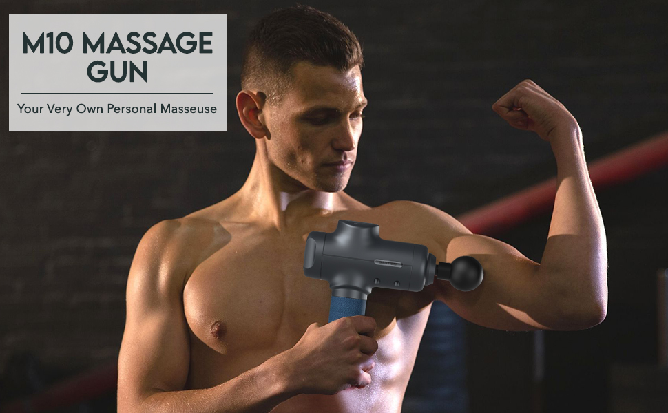 Our massage gun can reduce the physical and mental pain
