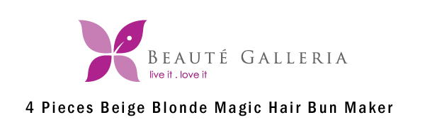 Beige Blonde Magic Hair Bun Maker Foam Sponge Bun Twist Shaper