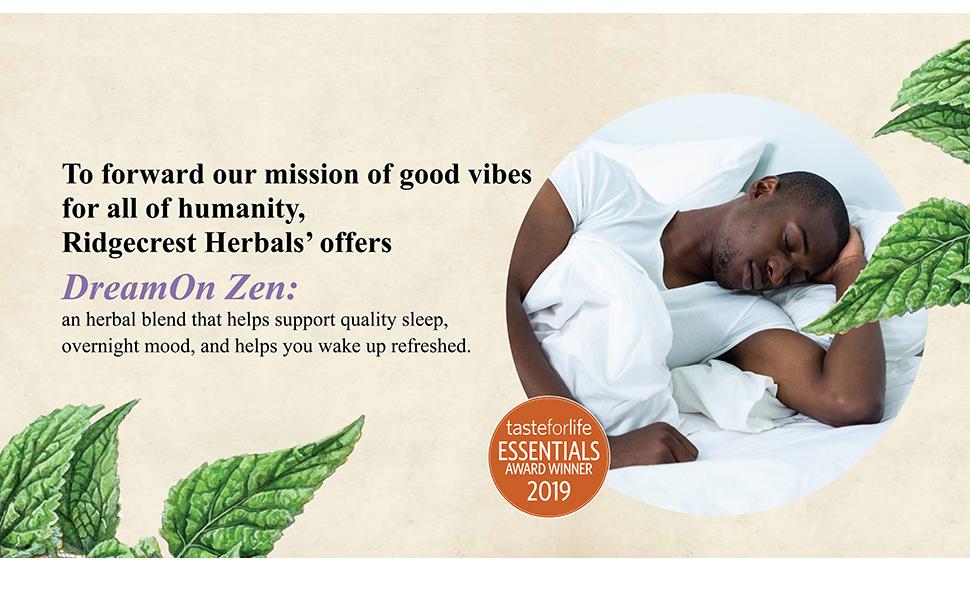 ridgecrest herbals dream on zen sleep mood refreshed