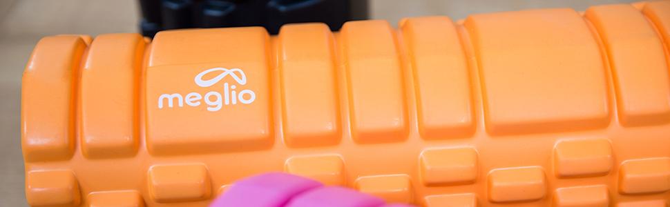 MEGLIO Rouleau en Mousse Rouleau /à Points de d/éclenchement pour Rel/âchement Myofascial Massage en Profondeur des Muscles Rouleau Grille pour Massage Musculaire Apaise la Tension et Les douleurs