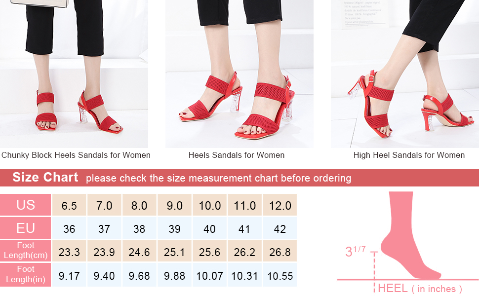 Women's Woven Fabric Heeled Sandals Ankle Strap Square Chunky Block Heels Pumps