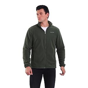 Mens Stand Collar Fleece Jacket