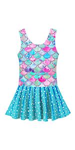 Girls Mermaid Swimsuit Dress