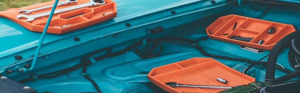 Grypmat flexible tool tray mat cart non slip wrench ratchet socket grip mat auto automotive