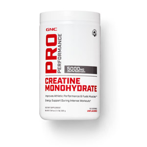 Details of GNC Pro Performance Creatine Monohydrate container