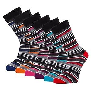 mens socks multipack 6-11 mens socks 9-11 multipack  socks for men multipack stripe socks