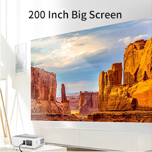 LED HD Movie Gaming Projector image size