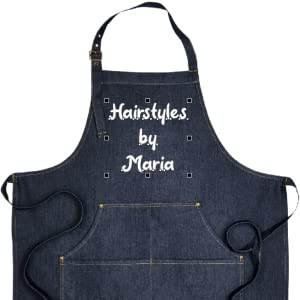 cosmetologist grill cute paint unisex pocket painting painter chambray pottery utility cosmetology