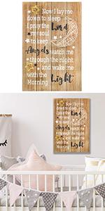 Nursery Decor Wall Decals Kids Rooms Gifts Baby Boys Girls Children Prayer Sign godchild plague