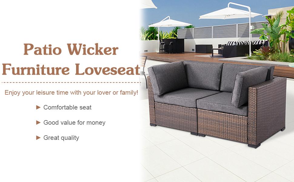wicker loveseat