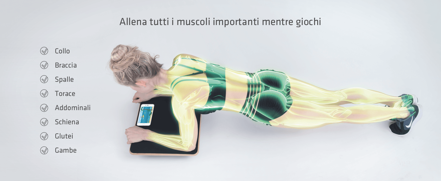 Allena tutti i muscoli - Collo Braccia Spalle Petto Addominali Schiena Glutei Gambe - mentre giochi