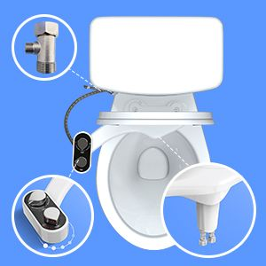 Clear Rear Bidet Toilet Attachment 1 Pack Fresh Water Non Electric Mechanical Bidet Sprayer For Toilet Easy To Install With Self Cleaning Nozzle Customizable Pressure Settings White Amazon Com