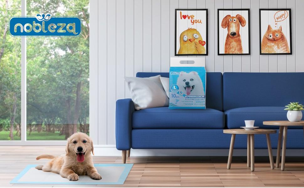 Nobleza - 100x Empapadores Perros Alfombrilla higiénica de Entrenamiento para Perros.