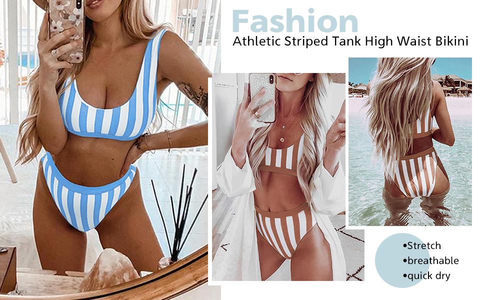 EVALESS Womens Push Up Two Piece Bikini Swimsuits Padded Swimwear Bathing Suits