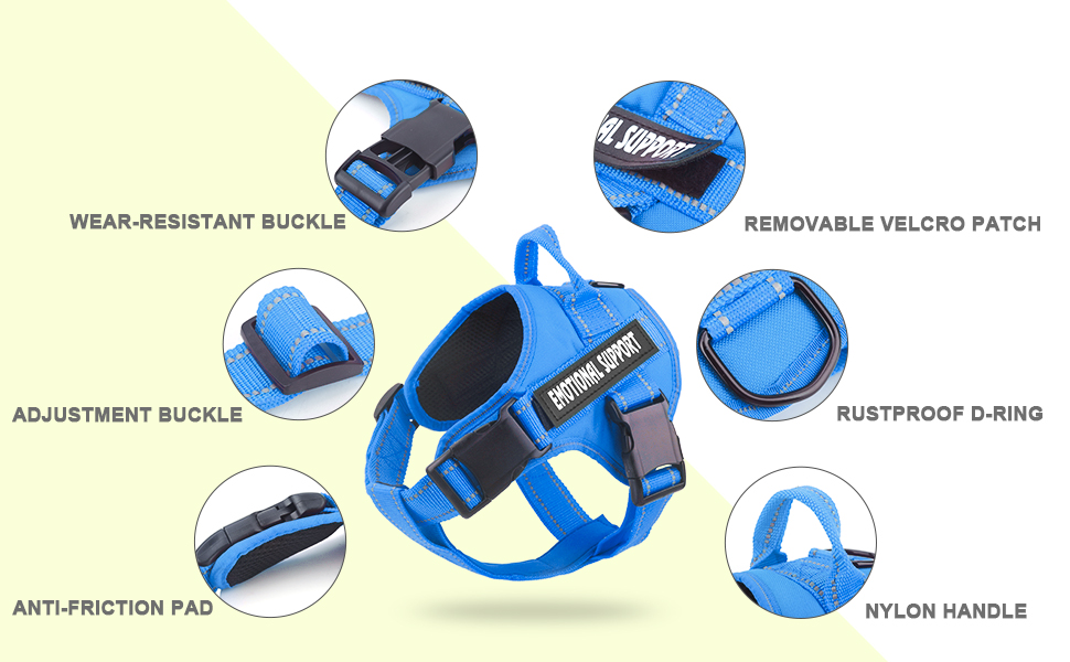 More details of the dog harness