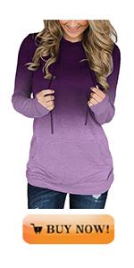 MODARANI Womens Tie Dye amp; Front Hoodie Sweatshirt for Women