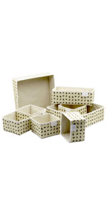 Bee Fabric Storage Boxes