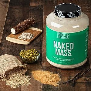 vanilla vegan weight gainer, vanilla vegan mass gainer, gluten free weight gainer for women vanilla