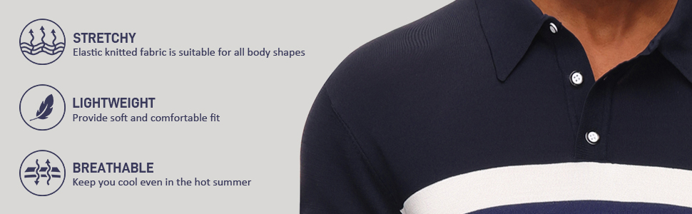 mens short sleeve knit polo t shirts contrast color block lightweight summer knitwear polo collar