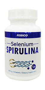 selenium mineral trace element spirulina organically bound health supplement gla natural pure clean