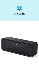 Altoparlante Bluetooth Portatili 5.0, Axloie Speaker Wireless Senza Fili con Microfono Vivavoce Ingresso Aux/Chiavetta USB/Scheda TF 10H di Aotonomia Bassi Forti HiFi Stereo per iPhone Android ecc