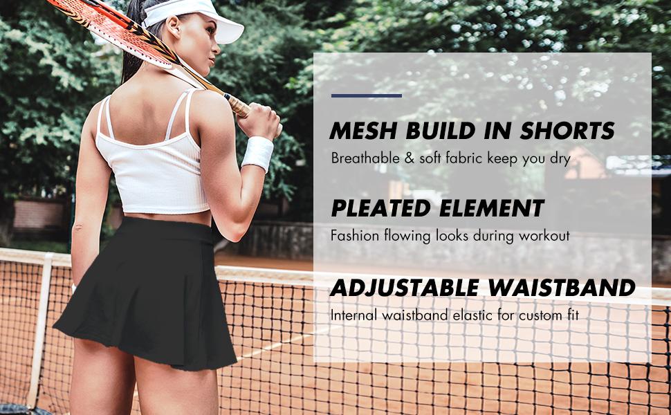 Baleaf Women's Athletic Pleated Tennis/Golf Skirts