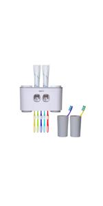 soporte de almacenamiento para pasta de dientes pl/ástico A iTimo Soporte para cepillo de dientes con adhesivo